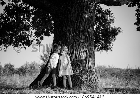 Romantic kids having date at Valentines Day. Funny kids. Best Valentines Day Ideas #1669541413