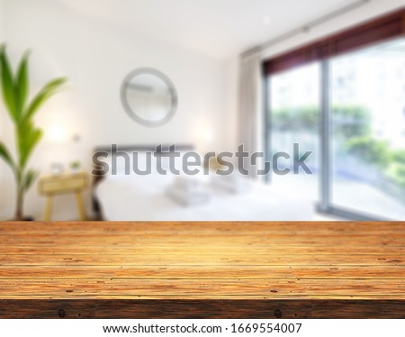 Table Top And Blur Bedroom of The Background #1669554007