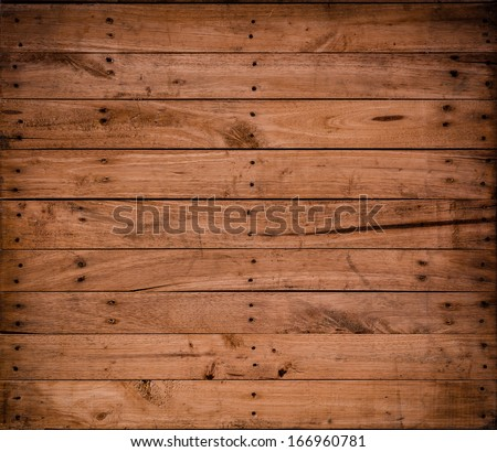 background Brown color nature  pattern detail of pine wood decorative old box wall texture furniture surface #166960781