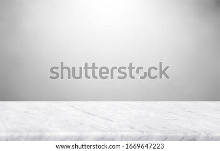 Abstract Natural texture marble floor on grey backdrop : Top view of marble table for graphic stand product, interior design or montage display your product.