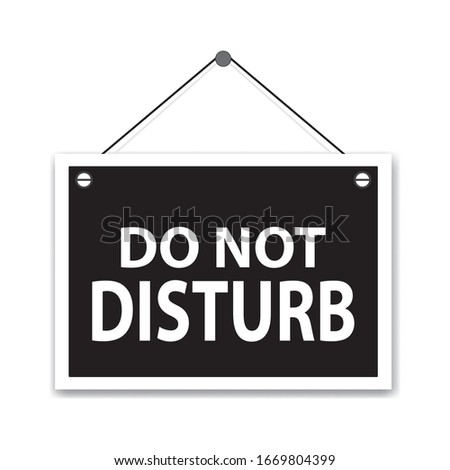 Do not disturb, white hanging sign #1669804399