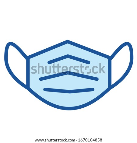Mouth guard, Mask, Medicine Vector Icon Illustration #1670104858
