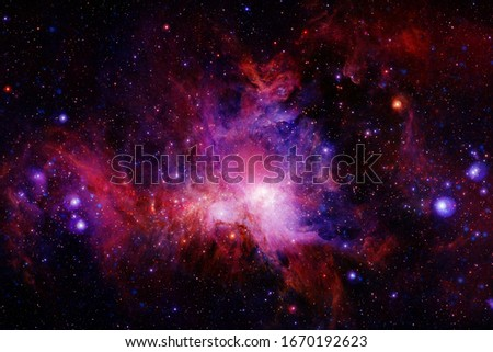 Galaxy thousands light years far away from Earth. Elements of this image furnished by NASA.