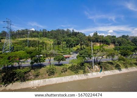 Medellin, Antioquia, Colombia. December 3, 2015: Medellin river.  #1670224474