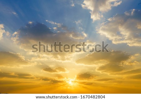 Colorful panorama sky during sunrise and sunset in a summer morning #1670482804