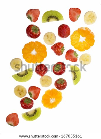 Collection of fruit isolated on white background #167055161