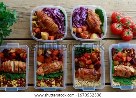 Grocery and Meal-Kit Delivery Services Seeing. Ordering delivery is the safest way to get food during the coronavirus outbreak. Service For Healthy Prepared Meals Delivered To Door Royalty-Free Stock Photo #1670552338