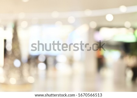 Blurred image of shopping mall background