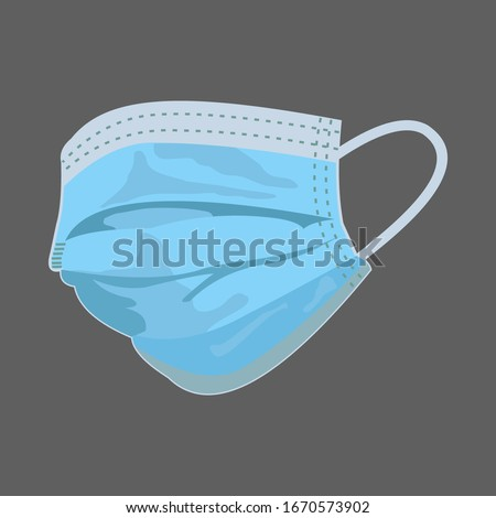 Respiratory mask for medical. Hospital or protect pollution with face masks. Vector illustration #1670573902