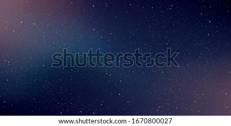 Astrology horizontal background. Star universe background. Milky way galaxy. Vector Illustration.