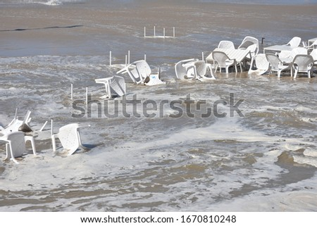 Tsunami made disaster on beach in Isreal