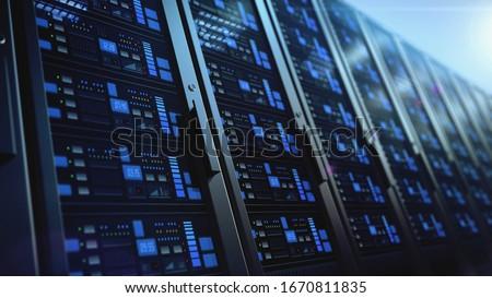 network workstation servers 3d illustration isolated on white background #1670811835