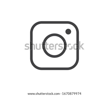 Camera icon. Social media sign icon. Vector illustration. #1670879974