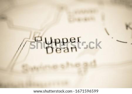 Upper Dean. United Kingdom on a geography map #1671596599