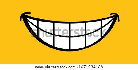 Happy world smile day, smiling National big happiness Fun thoughts emoji face emotion smiley Laughter lip symbol Smiling lips, mouth,  tongue Funny teeth Vector laugh cartoon Lol laughing haha Toothy #1671934168
