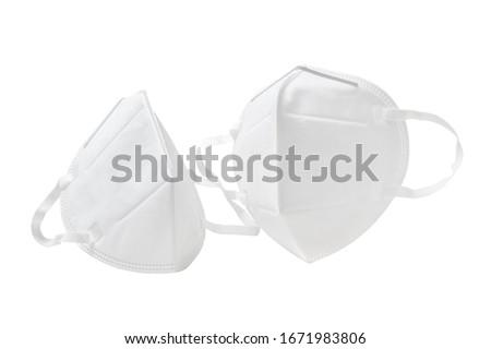 White anti-virus mask in white background Royalty-Free Stock Photo #1671983806