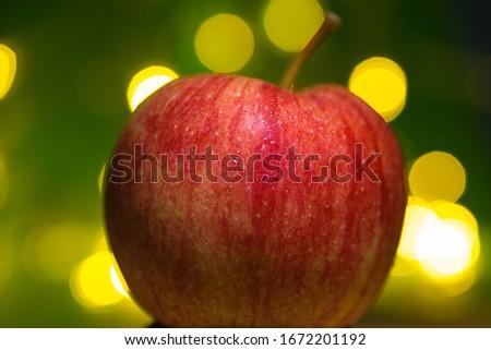 Apple closeup picture or apple macro photo