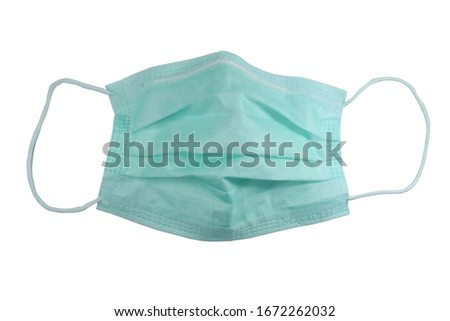Mask protection was used and placed on a white background. #1672262032