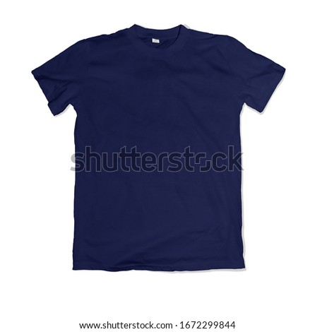 Navy blank tshirt template ready for your own graphics.