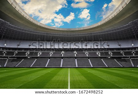 empty stadium - sport events without people Royalty-Free Stock Photo #1672498252