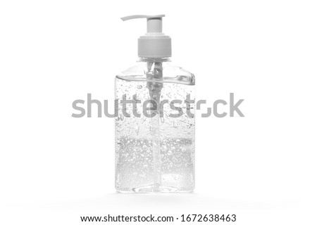 hand gel sanitizer for mockup   on white background Royalty-Free Stock Photo #1672638463