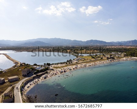 some drones pics in Sardinian beach during summer