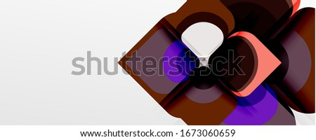 Abstract background - geometric cut paper design flower or square shape composition. Vector Illustration For Wallpaper, Banner, Background, Card, Book Illustration, landing page #1673060659