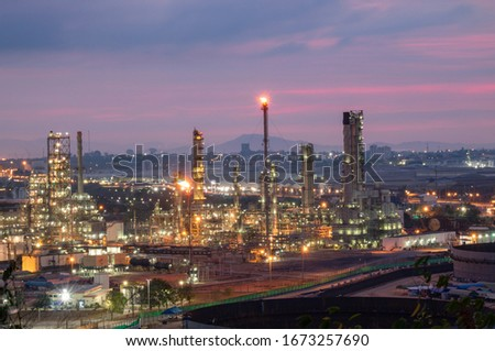 Oil and Gas Industrial zone,The equipment of oil refining,Close-up of industrial pipelines of an oil-refinery plant,Detail of oil pipeline with valves in large oil refinery. #1673257690