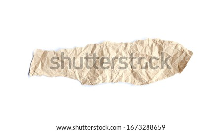 Collection of Recycled paper,crumpled paper,unfolded piece paper on white background #1673288659