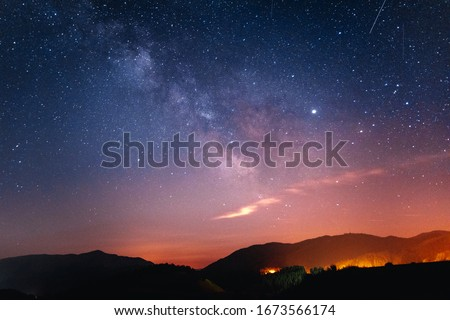 Picture of the milky way in Valberg