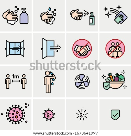 Vector editable stroke line icons for practical tips on COVID19 corona virus contamination prevention #1673641999