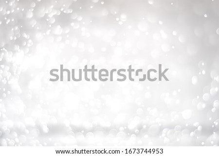 bokeh light silver gradient background for valentine and christmas. #1673744953