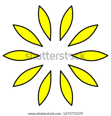Creative design logo with a beautiful flower shape and yellow #1673772379