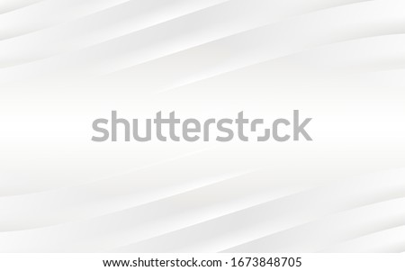 Abstract pattern. White and gray color background.  Vector Design layout of shape paper cut. Motion Curved Line. Gradient stripes layers. Royalty-Free Stock Photo #1673848705