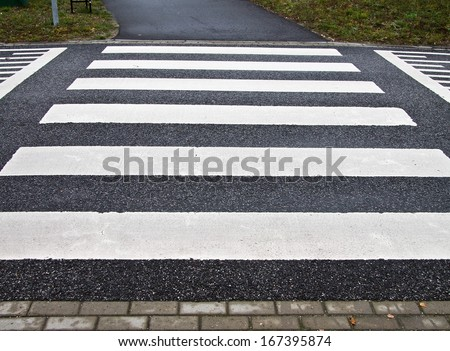 Zebra crossing on a speed bump #167395874