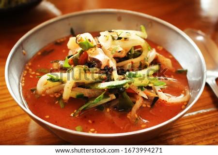 Korean Style Dish / Cold Raw Fish Soup #1673994271