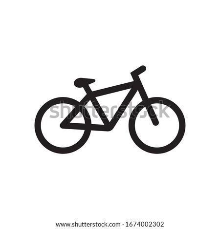 Bike icon logo vector illustration in black on white background