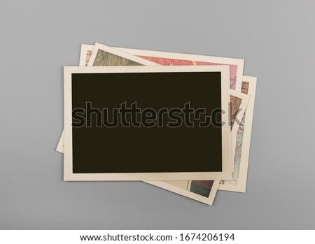 Stack of Blank vintage photos #1674206194