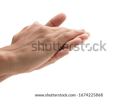 Washing your hand by alcohol sanitizer gel for protecting infection from a Covid-19 virus, Kill germs, Prevent infection #1674225868