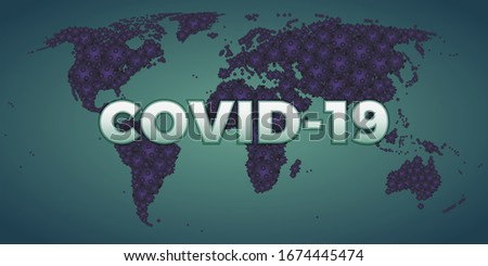Covid19 world infected corona virus pandemic flu #1674445474