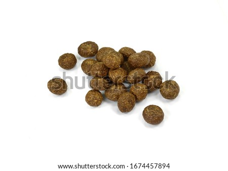 Rabbit droppings isolated on white. Rabbit excrement. Hare Poop on White. Shit. #1674457894