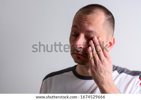 The best way to prevent illness is to avoid being exposed to this virus through the following, Avoid touching your eyes, nose, and mouth. Protect myself from COVID-19 infection. Don't Touch Your Face  Royalty-Free Stock Photo #1674529666