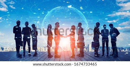 Business network concept. Human Resources. Group of businesspeople. #1674733465