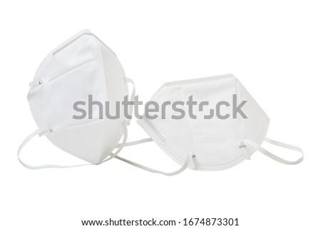 White anti-virus mask in white background #1674873301