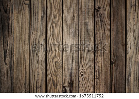 Old brown wooden background. Timber texture. Grunge image. Board floor #1675511752