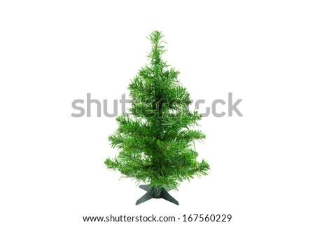 Original Christmas tree on white background. Christmas tree for decoration. #167560229