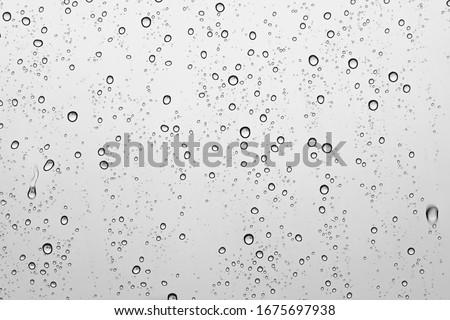 Rain drops on mirror picture