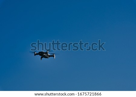photo of drone with beautiful sky