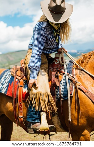 Cowgirl In the Wild West