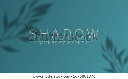 Shadow overlay effect. Transparent soft light and shadows from branches, plant, foliage and leaves. Mockup of transparent leaf shadow overlay effect and natural lightning. Vector mock up gradient mesh #1675881976